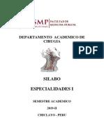 Silabo Especialidades I- 2019