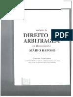 Estudos de Direito Da Arbitragem Em Homenagem a Mario Raposo Artigo Dr. ...