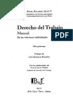 Derecho Del Trabajo. Manual de Las Relaciones Individuales. Gatti
