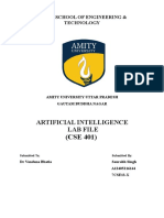 Artificial Intelligence Lab File