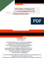 Normas Apa - Trabajos Escritos y Documentos de Investigación