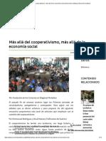 Más Allá Del Cooperativismo, Más Allá de La Economía Social _ Economía Solidaria _ Economía Solidaria