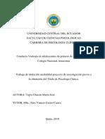 Conducta violenta en adolescentes de primero de bachillerato del Colegio Nacional Amazonas
