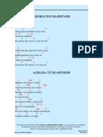 Caderno de Louvores Cifrados - Parte 3