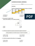 Formativa Matematica 4to Basico - Ecuaciones - Cuerpos Geometricos