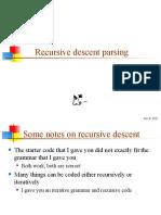25 Recursive Descent Parsing