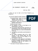 The Crown Property (Vesting) Act