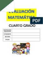 PRUEBA MATEMÁTICA - 4° GRADO