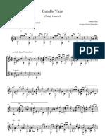 Caballo Viejo en a m Digitada - Full Score