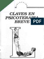 De Shazer Claves en Psicoterapia Breve. Capítulo 6 Solamente