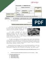 Evaluación Lenguaje y Comunicación Texto Informativo Noticia