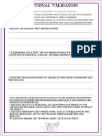 Emotional Validation Worksheet