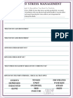 Intro to Stress Management Self-Help Worksheet