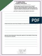 Labeling Self-Help Worksheet