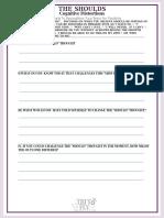 The Shoulds Self-help Worksheet