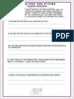 Predicting the Future Self-Help Worksheet