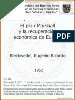 El plan Marshall y la recuperación económica de Europa