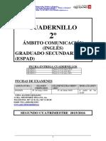 Cuadernillo 2º Inglés. Segundo Cuatrimestre