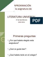 Introduccion-Aproximacion a Literatura Universal