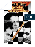 Best Play a New Method for Discovering the Strongest Move Alexander Shashin 2