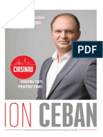 Ion Ceban, program de administrare a or. Chișinău