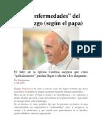15 Enfermedades Del Liderazgo Papa Francisco