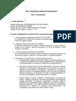 SUPERVISIÓN Y GESTIÓN DE RESIDUOS PELIGROSOS