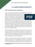 CASO PRACTICO 1   Ejercicio sobre un dilema ético  DR QUIROZ 2019 SAN MARCOS RSE