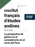 La perspectiva de género en el curanderismo en el norte del Perú
