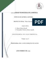 Reporte Quimica