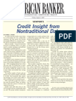 Financial Services Solutions - Credit Insight From Non-Traditional Data