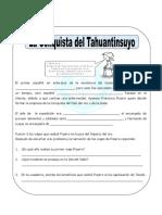 Ficha La Conquista Del Tahuantinsuyo Para Cuarto de Primaria (1)
