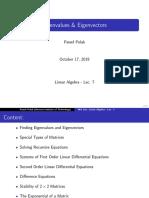 Eigenvalues and Eigenvectors - Linear Algebra