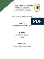 Areas de La Manufactura