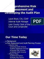 Comprehensive Risk Assessment and Developing the Audit Plan