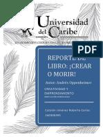REPORTE_DEL_LIBRO_CREAR_O_MORIR