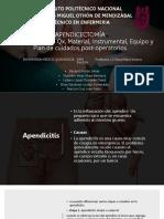 Apendicectomía Enfermeria Médico Quirurgica