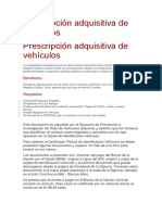 Prescripción Adquisitiva de Vehículos