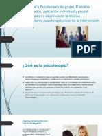 Psicoterapia Individual y Psicoterapia de Grupo