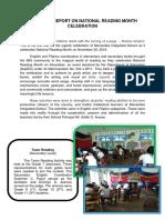 NARRATIVE REPORT ON NATIONAL READING MONTH CELEBRATIO1.docx