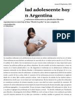 maternidad en la adolescencia