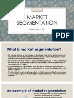 3rd Meeting Market Segmentation