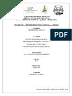 Practica 1 PROPIEDADES QUÍMICAS DE LOS ALCOHOLES