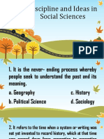Discipline and Ideas in Social Sciences