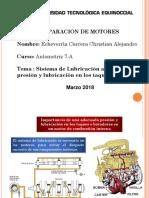 Presentación Sistema de Lubricación Adecuada Presión y Lubricación en Los Taques de Un MCI
