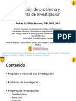 CMI Problema y Pregunta de Investigacion Willy Lescano