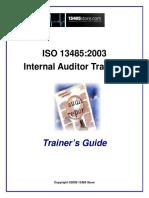 13485 Internal Auditor Training