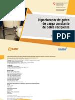 3 MANUAL Hipoclorador de Goteo Doble Recipiente