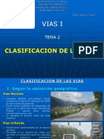 Clasificacion de las vias