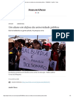 Um Aluno Em Defesa Da Universidade Pública - 17-05-2019 - Opinião - Folha